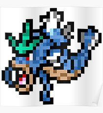 Pokemon 8-Bit Pixel Gyarados 130 Poster