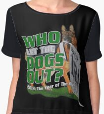 Eagles Who Let The Dogs Out Superbowl Champions Chiffon Top