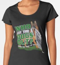 Eagles Who Let The Dogs Out Superbowl Champions Women's Premium T-Shirt