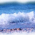 Beach Wave Painting by Debbie Stobbart
