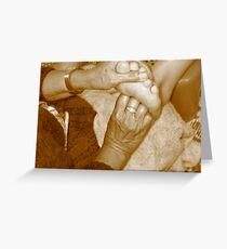 Foot Massage Greeting Card