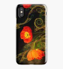 Decorative poppy iPhone Case