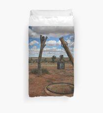 Old Well - Milparinka Historic Precinct NSW Australia Duvet Cover