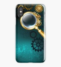 Magnifier in Steampunk Style iPhone Case/Skin