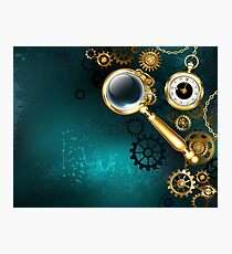 Magnifier in Steampunk Style Photographic Print