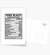 Pure Black - African American Pride Postcards