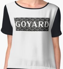 Black Goyard Chiffon Top