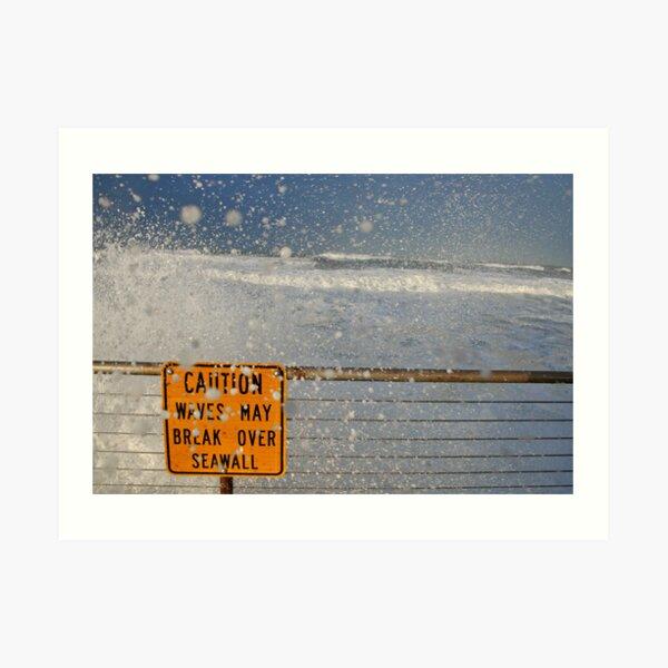Pacifica Seawall Art Print