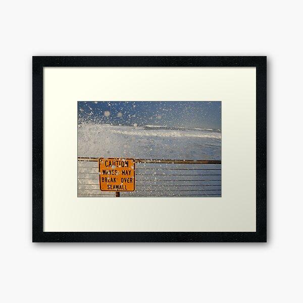 Pacifica Seawall Framed Art Print