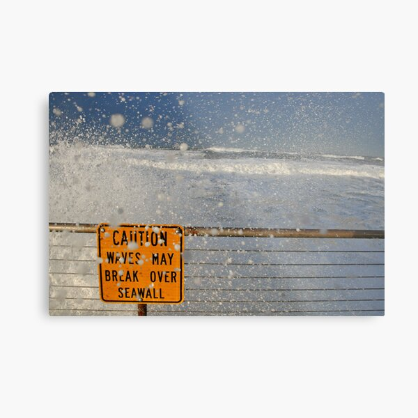 Pacifica Seawall Metal Print