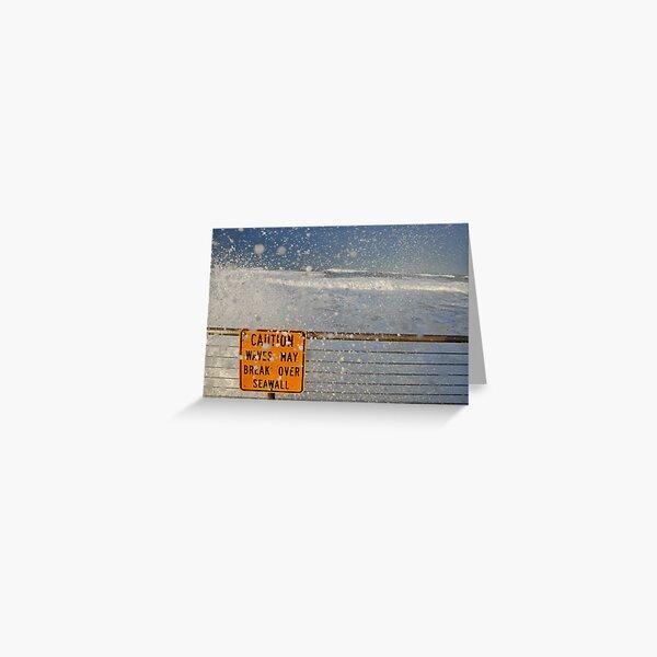 Pacifica Seawall Greeting Card