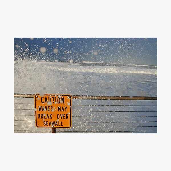 Pacifica Seawall Photographic Print