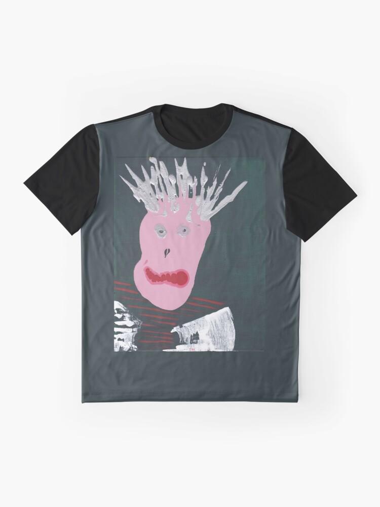 T-shirt graphique ''Punk - Martin Boisvert - Faces à flaques': autre vue