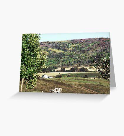 Rural Quebec Farm Greeting Card