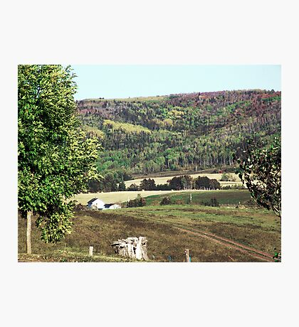 Rural Quebec Farm Photographic Print