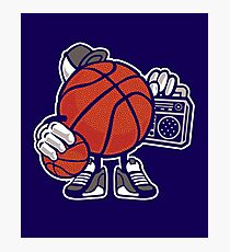Basketball player listen music shirt Photographic Print