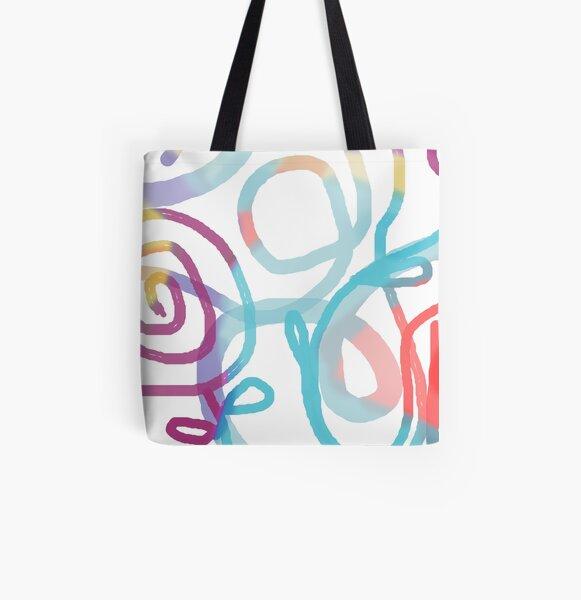 Playful loops Allover-Print Tote Bag
