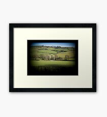 Fields Through the Viewfinder Framed Print