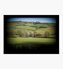 Fields Through the Viewfinder Photographic Print