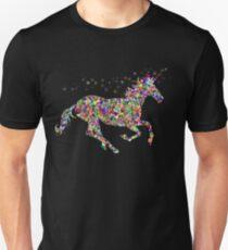 Regenbogen-Glitter-Einhorn-Hemd Unisex T-Shirt