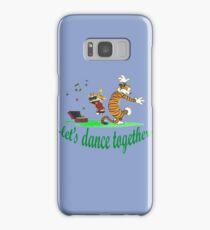 calvin and hobbes dancing Samsung Galaxy Case/Skin