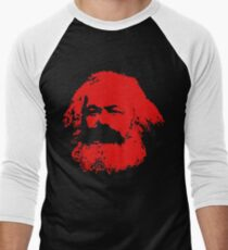 Karl Marx red Design Men's Baseball ¾ T-Shirt