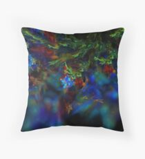 Fractal Flame Art: Rainbow Throw Pillow