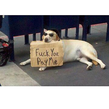 fuck you pay me dog by grufalo