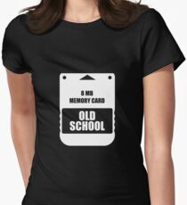 Oldschool Memory Card Women's Fitted T-Shirt