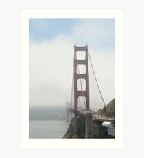 Goldengate Bridge in the fog Art Print