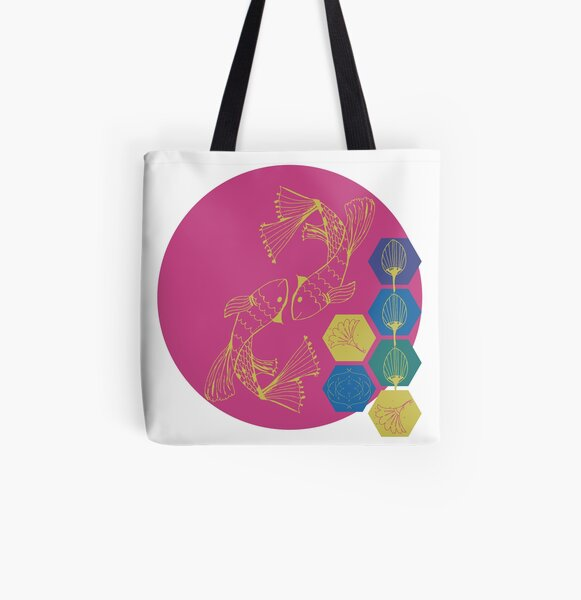 Kabuki Fish All Over Print Tote Bag