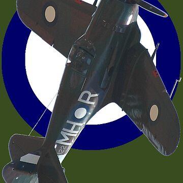 Pacific WW2 RAAF Roundel Boomerang VH-MHR Design by muz2142