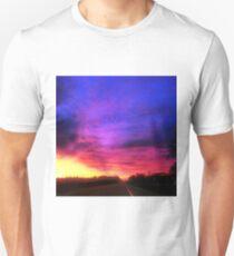Magenta Sky Drive Unisex T-Shirt