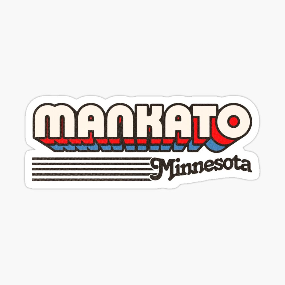Mankato, Minnesota | Retro Stripes Sticker
