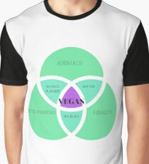 Vegan Venn Diagram Graphic T-Shirt
