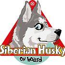 Husky On Board - Gray by DoggyGraphics