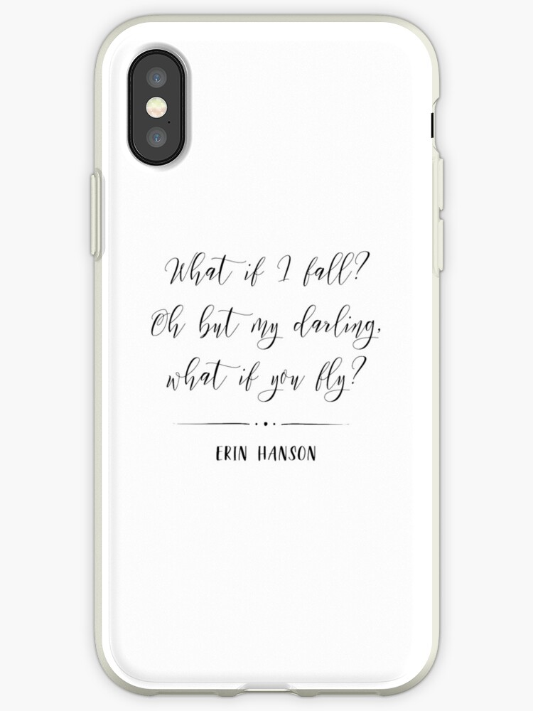 What If I Fall What If You Fly Quote Iphone Cases Covers By