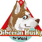 Husky On Board - Red by DoggyGraphics