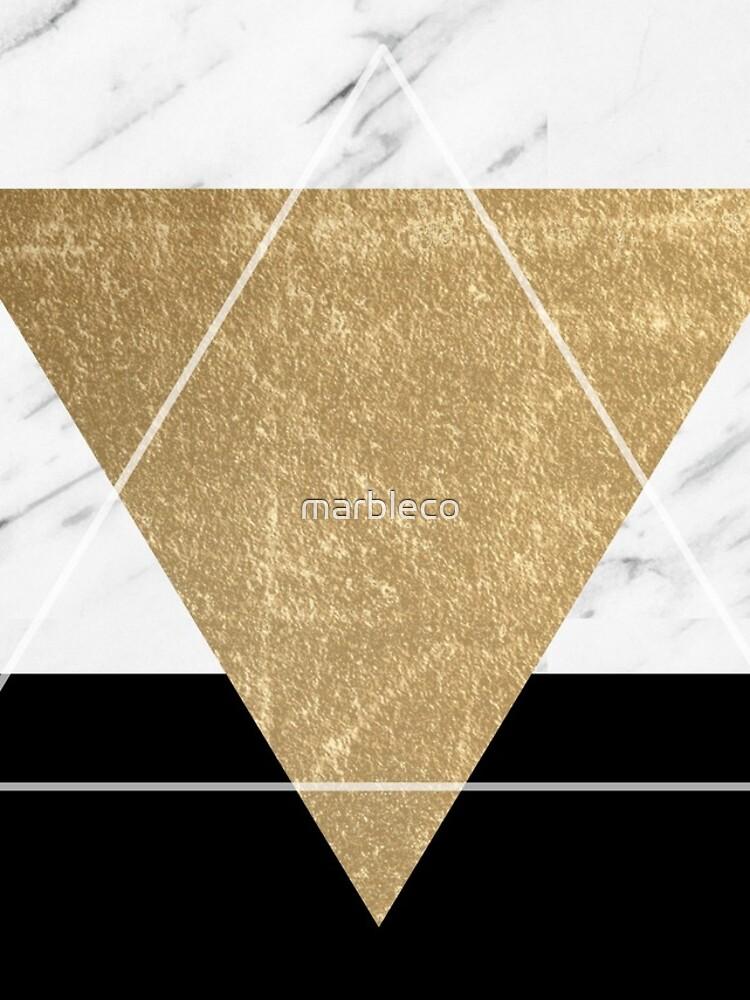 Goldener Marmor Deko geometrisch von marbleco