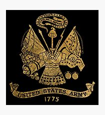 Vintage US Golden Army Coat of Arms Photographic Print