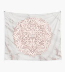 Rose gold mandala - shimmer vein marble Wall Tapestry