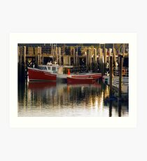 Fishing lobster ... holding in the Harbour Art Print