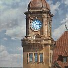 Train Station Clock Tower by designingjudy