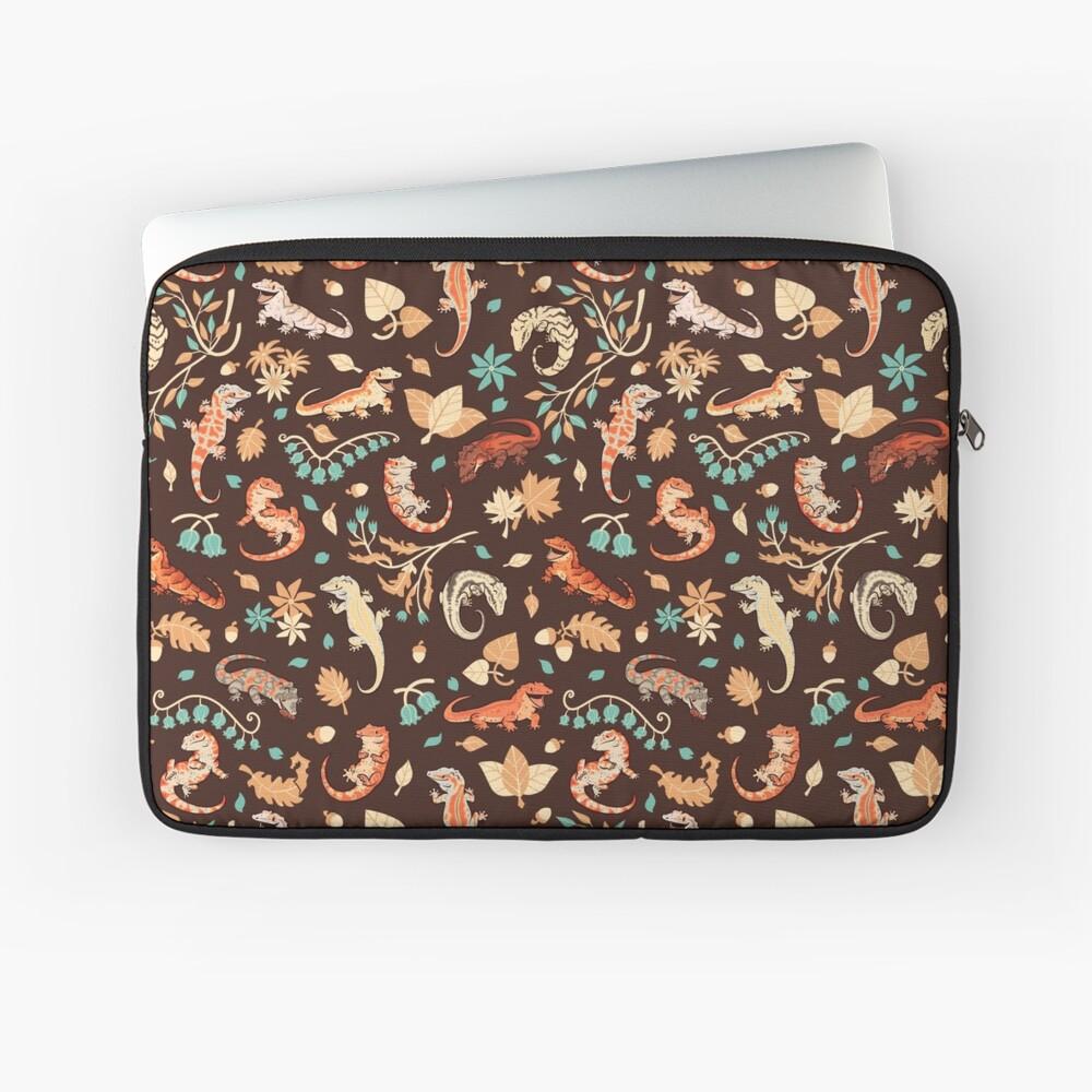 Autumn geckos in dark brown Laptop Sleeve