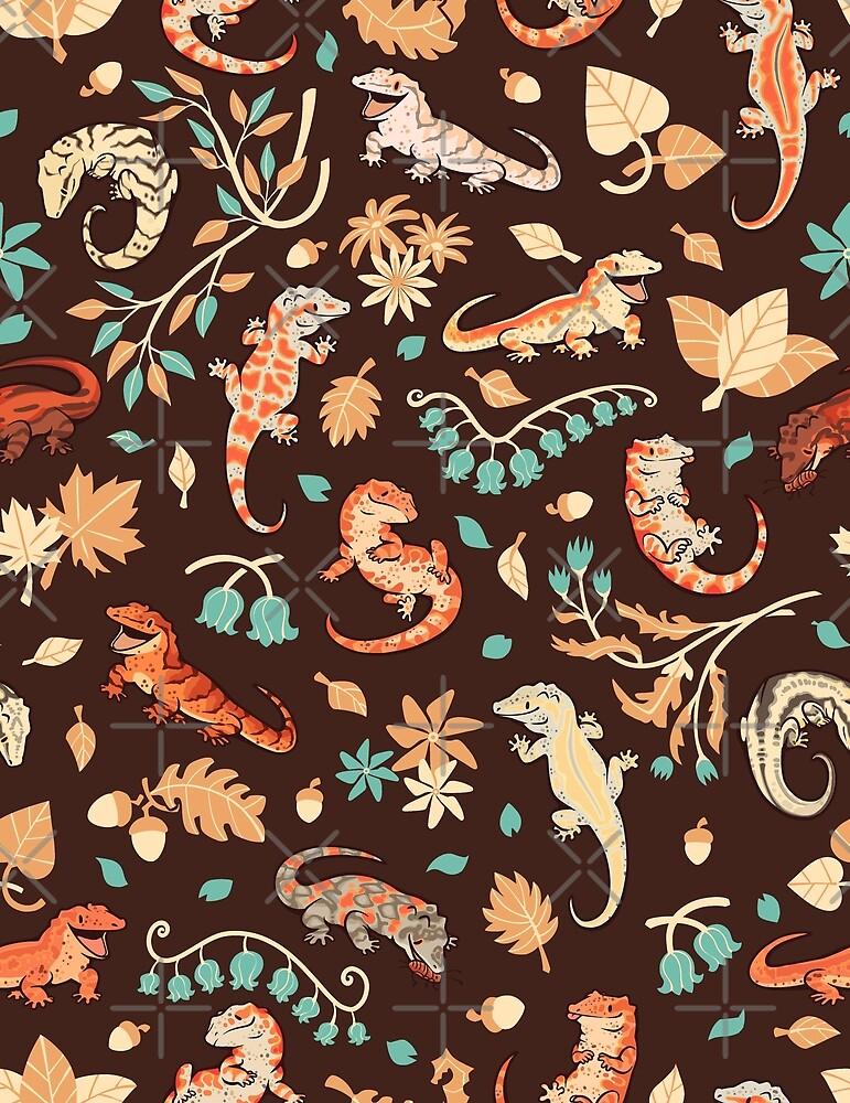 Herbst Geckos in dunkelbraun von Colordrilos