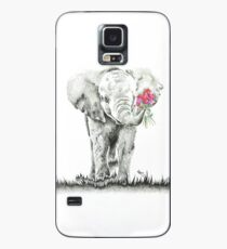 'Elephant with Flowers' Original Artwork Case/Skin for Samsung Galaxy