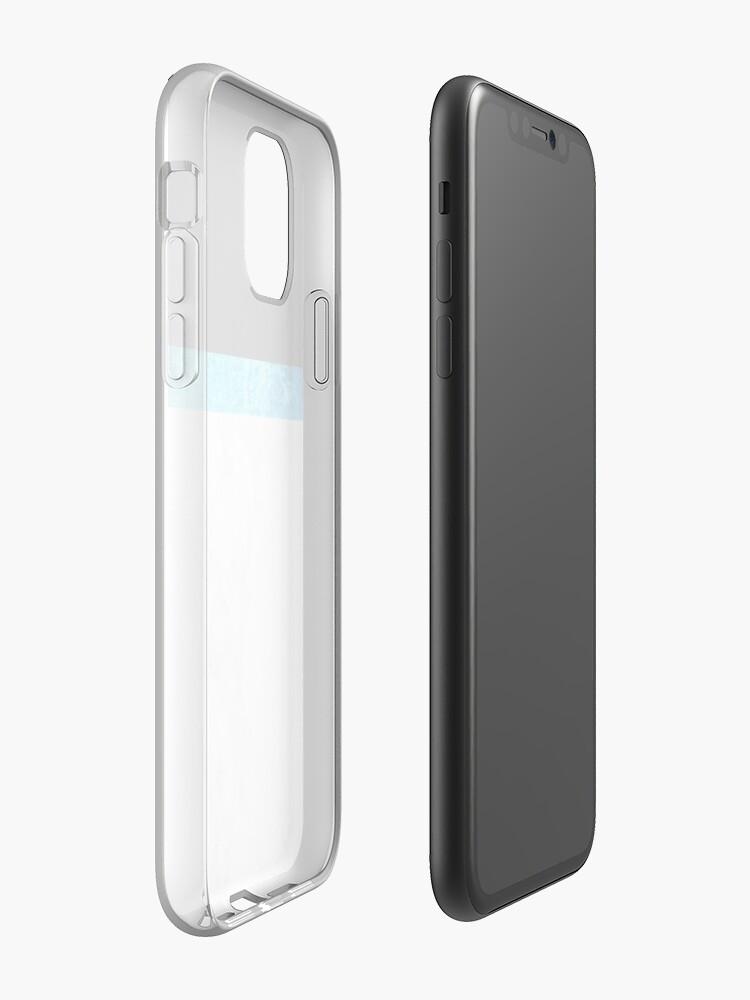 Coque iPhone «Jolie conception de marbre bleu», par warddt
