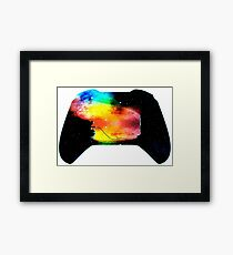 Video games controller for gamers Framed Print