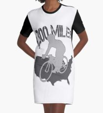 TransAmerica Bicycle Trail Graphic T-Shirt Dress