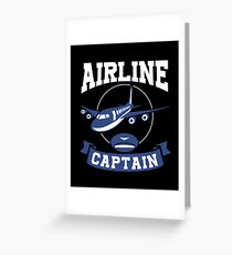 Airline Captain Airplane Pilot Aircraft Operator Greeting Card